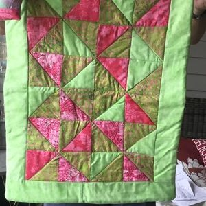 Handmade Doll Quilt with Pillow